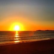 Sunset over Half Moon Bay,, California