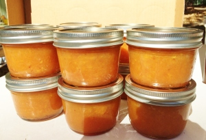"""Summer in A Jar Peach Preserves"""
