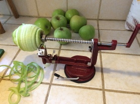 """Coolest apple peeler/corer ever"""