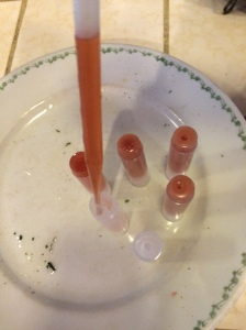 """Use a pipette to place warm balm mixture into tubes.... super easy!"""