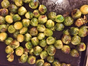 """Roasted brussel sprouts"""