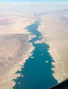 Flying over the shrinking Lake Mead in Arizona
