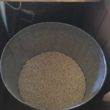 Freshly ground grits,