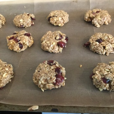 Gluten-free/vegan version with dried cranberries